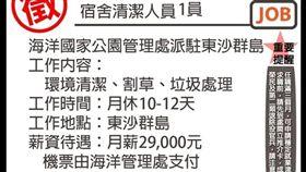 外島,薪資,29K,海洋公園管理處,爆怨公社 圖/翻攝自臉書爆怨公社