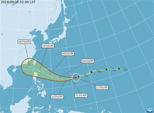 山竹颱風,大雨特報/氣象局