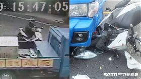 彰化貨車迴轉撞飛機車騎士/翻攝畫面