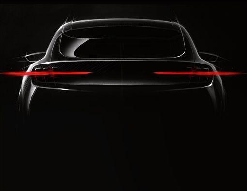 Ford公佈全新純電動SUV預告圖。(圖/Ford提供)