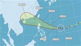 山竹颱風潛勢路徑圖0912