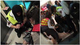 台北,捷運,輪椅,車廂,救援(圖/翻攝自爆料公社臉書)
