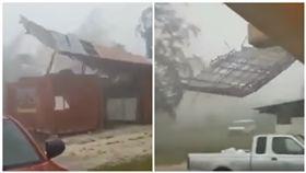 關島,颱風,山竹,防颱,屋頂(圖/翻攝自YouTube)
