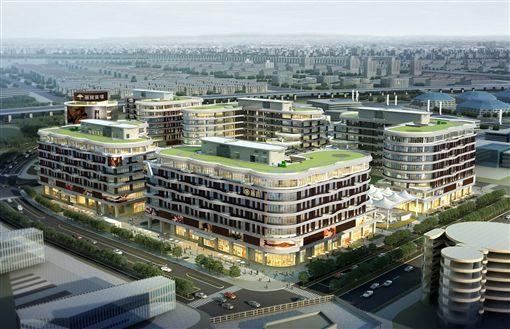 插旗上海虹橋樞紐 麗寶打造綠建築