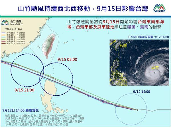 國家災害防救科技中心山竹颱風