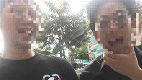 兩名男子在府中捷運商圈搭訕女子,口出狂語「我想跟你做愛」。(圖/翻攝自爆料公社)