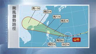 強颱山竹續增強 周末對台威脅恐增大