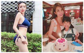 lala及女兒 合成圖/翻攝自臉書