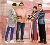 路嘉怡、KEVI老師、夏和熙、韓製作方代表閔導「拜託了女神」首播記者會。(記者邱榮吉/攝影)