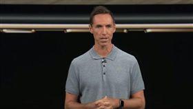 Steve Nash站上蘋果發表會(圖/翻攝自YouTube)