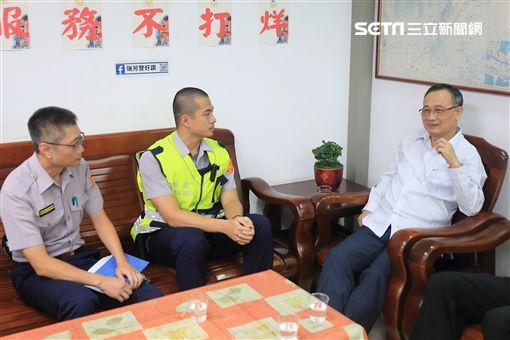 警政署長,陳家欽,慰勉,瑞芳,警方提供