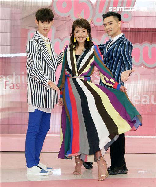 美妝節目《拜託了!女神》主持人路嘉怡、Kevin老師與夏和熙 圖/記者邱榮吉攝影