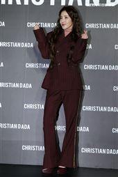 韓國女藝人Dara來台灣出席服飾品牌旗艦店開幕。(記者邱榮吉/攝影)