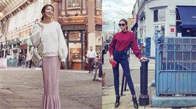 名模隋棠曬出懷孕6個月時,幫自家品牌拍攝的一系列服裝新品照。翻攝IG