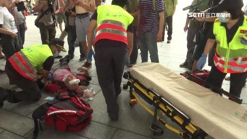 台中幼兒園抗議拆遷 園長激憤衝撞血壓低暈倒