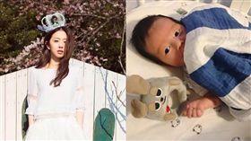 林宥嘉與愛妻丁文琪的兒子「酷比」。(翻攝臉書)