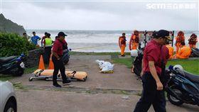 被宜蘭粉鳥林巨浪捲入落水 女老師遺體尋獲 圖翻攝畫面