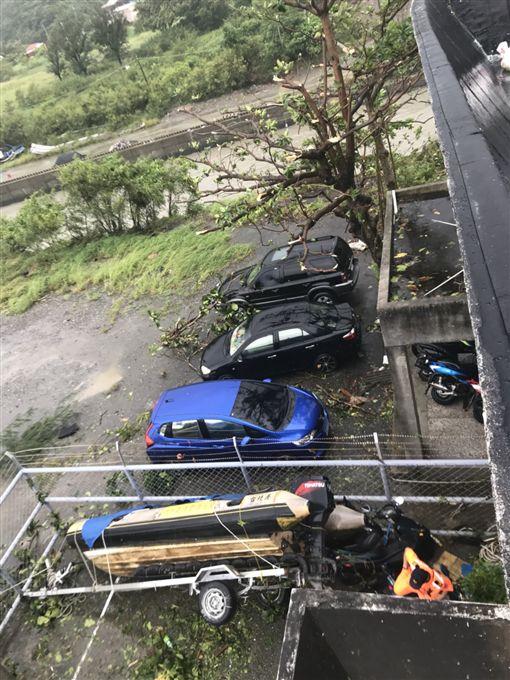 強陣風颳過台東大武 圖/翻攝畫面