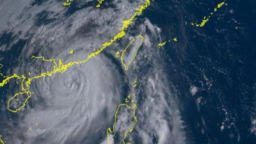 山竹颱風圖翻攝自向日葵衛星