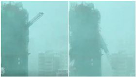 香港,山竹,大樓,災情,起重機(圖/翻攝自網路)