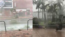 香港 山竹 颱風 災情 合成圖/翻攝自網路