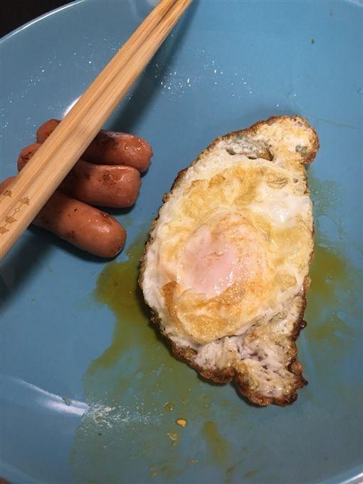 留學生,台灣,形狀,煎蛋,Dcard 圖/翻攝自Dcard