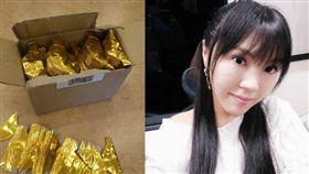 劉樂妍表示親手摺的金元寶,是冥紙裡面最值錢。(圖/翻攝自劉樂妍微博)