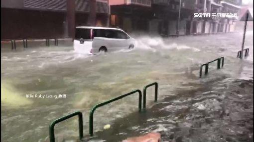 山竹颱風重創港澳! 熱鬧景點成廢墟