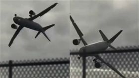 波音747被山竹吹360度轉是「假的」(圖/翻攝自Dato'Dr Ko ChungBeng臉書)