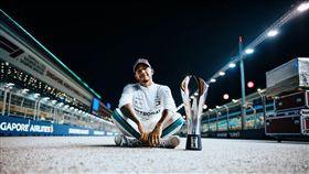 Hamilton個人F1生涯第69座分站冠軍。(圖/Mercedes-Benz提供)