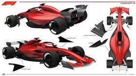 F1 Concept 2概念車。(圖/翻攝F1網站)