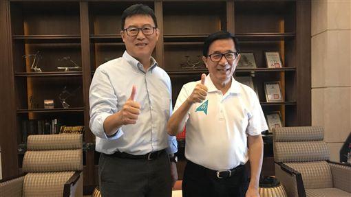 陳水扁、姚文智 圖/姚文智辦公室提供