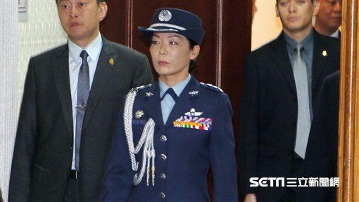 總統府女武官陳月芳。(記者邱榮吉/攝影)
