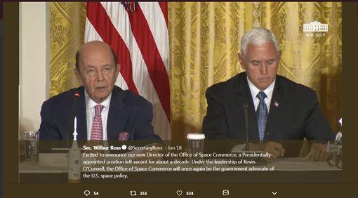 美國商務部長羅斯/ 推特