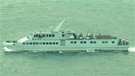 山竹真調皮!中共駐港船遭吹到無人島 山竹,解放軍,南交86 翻攝自推特