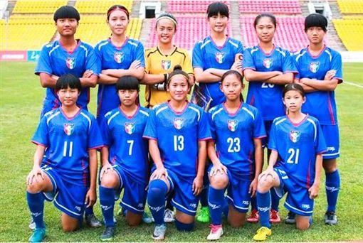 ▲中華U16女足。(圖/中華足協提供)