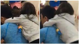 這是我老公!2歲女環抱爸爸和母爭寵