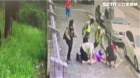 台中男隨機攻擊 阿嬤被勒脖嚇壞/翻攝畫面