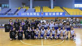新聞女生隊出戰香港女籃(圖/籃球記者聯誼會提供)