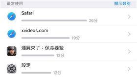 iOS 12,蘋果,螢幕使用時間,爆廢公社 圖/翻攝自臉書爆廢公社