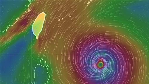 風場預報圖,譚美颱風/中央氣象局