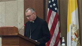 教廷國務卿出席研討會教廷國務卿帕洛林,出席美國主辦之宗教自由座談會,表達天主教捍衛宗教自由的立場。中央社記者黃雅詩梵蒂岡攝  107年6月26日