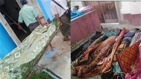 緬甸4人幫幫撿手機,卻陳屍化糞池。(圖/翻攝自緬甸中文網)