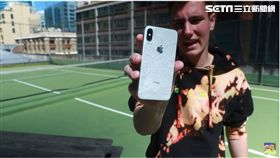 iPhone XS 摔落 測試 TechSmartt 翻攝影片