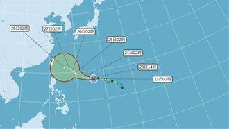 潭美恐成超強颱風!勿排除侵台可能性