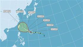 潭美颱風,穿心颱,豪雨 圖/翻攝自中央氣象局