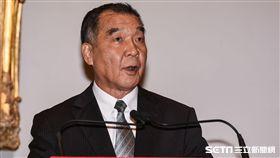 退輔會主委邱國正針對軍人年金改革發表談話。 (圖/記者林敬旻攝)
