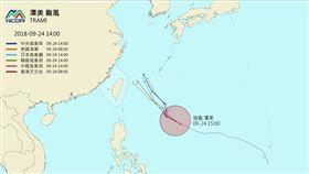 潭美到底來不來?各國預測路徑大集合 一張圖讓你秒懂 圖/翻攝自NCDR https://watch.ncdr.nat.gov.tw/watch_typhoon.aspx