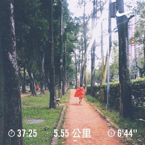 陳意涵,懷孕,跑步/翻攝自陳意涵臉書