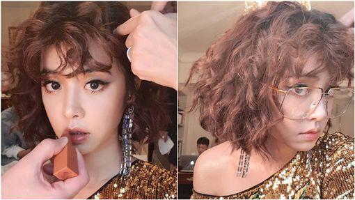 蔡依林燙捲髮/臉書